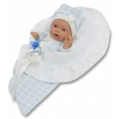 Плачущая кукла-младенец Бланка в голубом