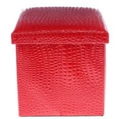 Красный складной пуф для хранения