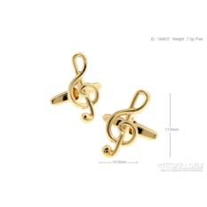 Запонки «Скрипичный ключ 2» в именной коробке с гравировкой