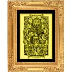 Картина из золота Лев