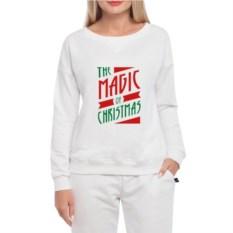 Женский свитшот The magic of christmas