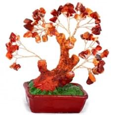 деревце счастья из натуральных камней Бонсай. Сердолик
