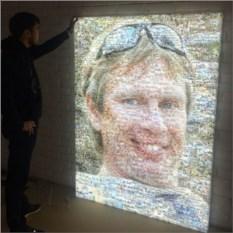 Светильник с портретом в формате фотомозаики