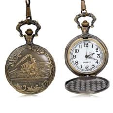 Карманные часы с крышкой «Поезд»