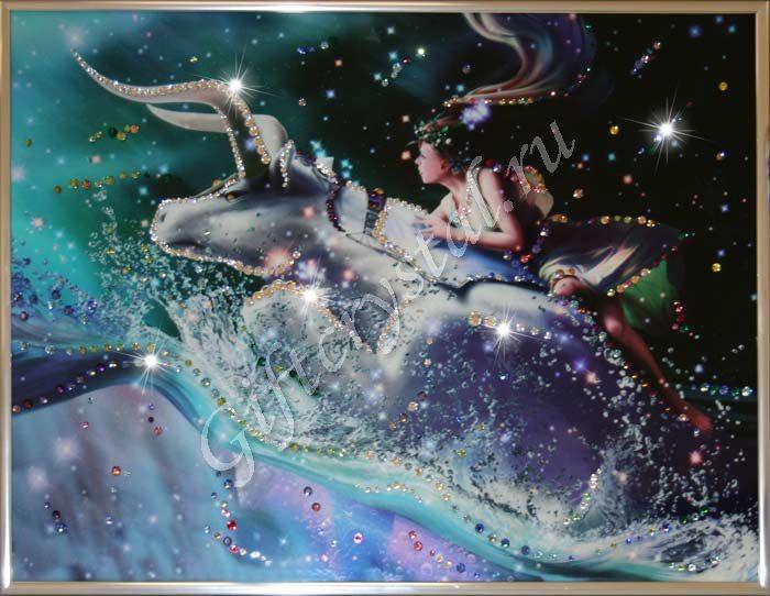 Картина с кристаллами Swarovski Телец Кагая