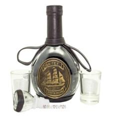 Набор для напитков в натуральной коже За тех кто в море