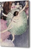 Репродукция картины Танцовщица в зеленом платье, Дега