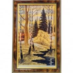 Золотая гравюра Лесной ручей