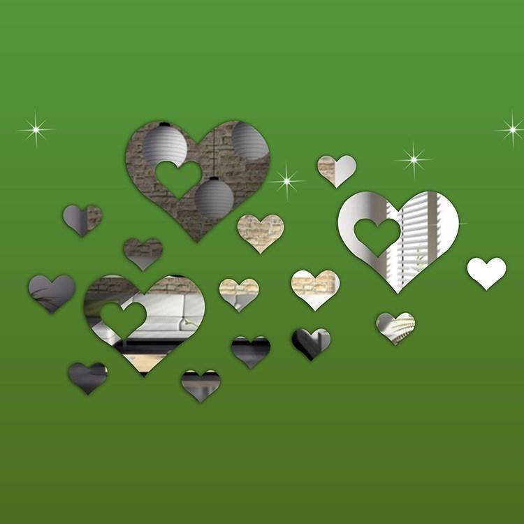 Декоративное зеркало Сердца