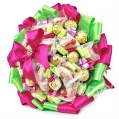 Букет из конфет Ferrero Rocher, Raffaello Весенний Микс-31