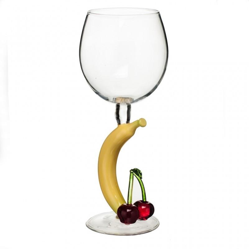 Бокал для вина Банан с вишней