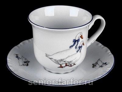 Набор для чая Thun Констанция (гуси) на 6 персон