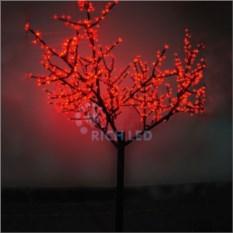 Красное светодиодное дерево Сакура 1,1х0,75 м