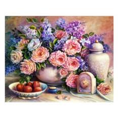 Набор для вышивки стразами «Розовый натюрморт»