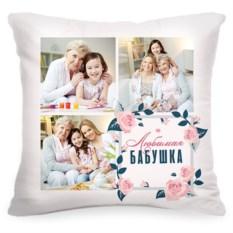 Подушка с вашим фото «Любимая бабушка»