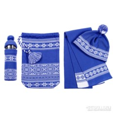 Синий набор Снежный узор