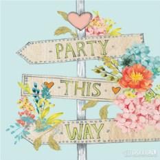 Бумажные салфетки Party This Way