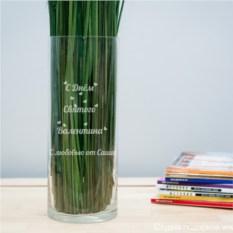 Именная ваза с гравировкой С днём Св. Валентина