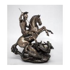 Бронзовая статуэтка Георгий Победоносец