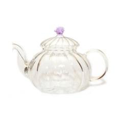Стеклянный заварочный чайник Огненный цветок