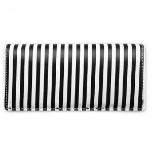 Кошелек Thin stripes, черный