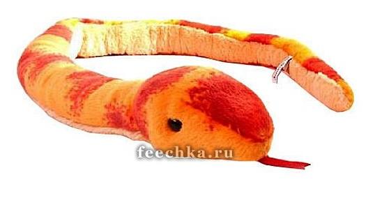 Мягкая игрушка Змея – Маисовый Полоз, Aurora