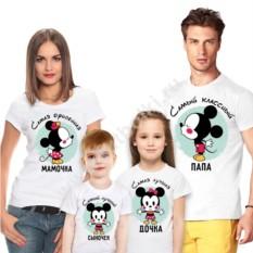 Набор семейных футболок Самые офигенные. Микки маус