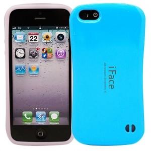 Светящийся чехол для iPhone 5 iFace (голубой)