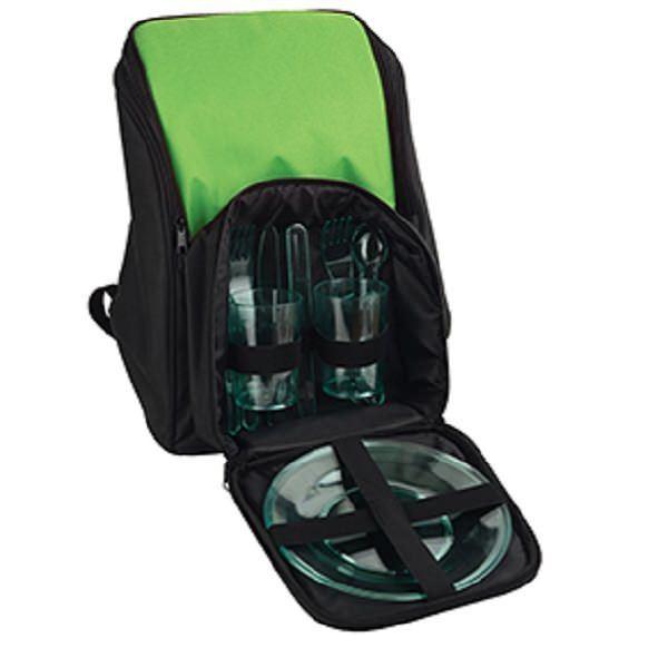 Рюкзак для пикника с термоизоляцией и посудой на 2 персоны
