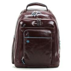Большой коричневый рюкзак для ноутбука Piquadro Blue Square