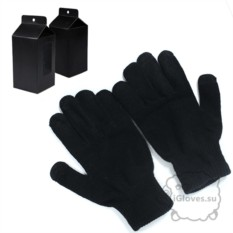 Черные перчатки для сенсорного экрана iGlove