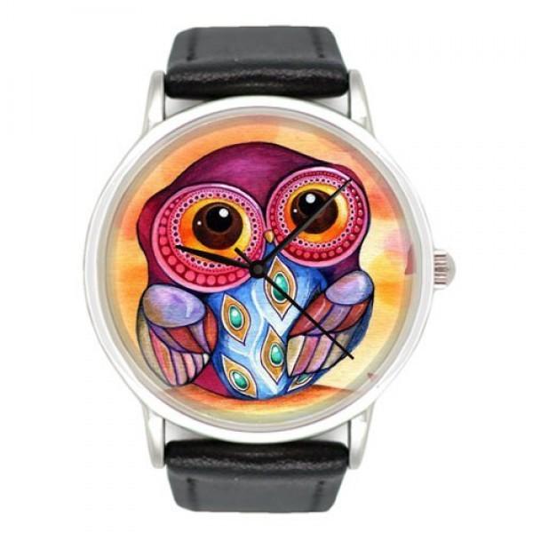 Наручные часы с принтом Сова большая