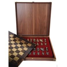 Коричневый шахматный набор Троянская война
