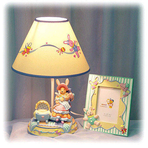 Комплект из лампы и фоторамки