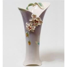 Фарфоровая скульптурная ваза Орхидея