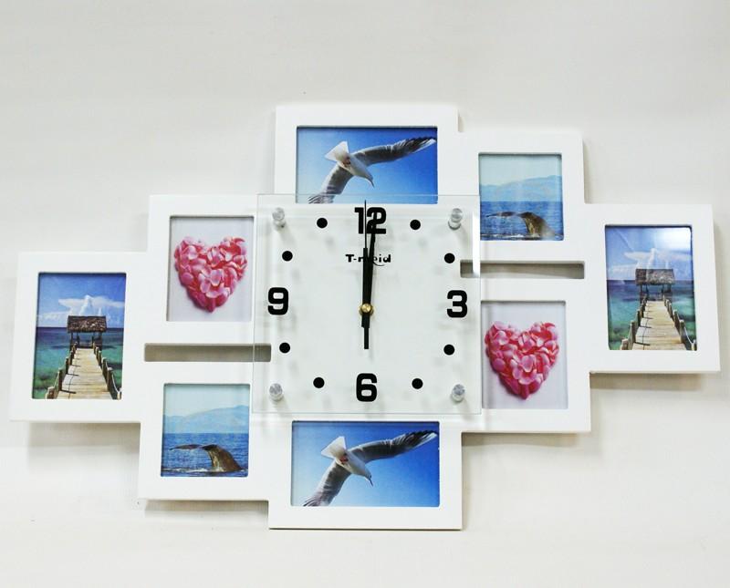 Настенные часы из фоторамок своими руками 862