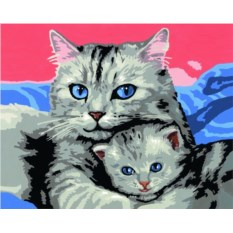 Раскраска по номерам Ravensburger Кошка с котенком