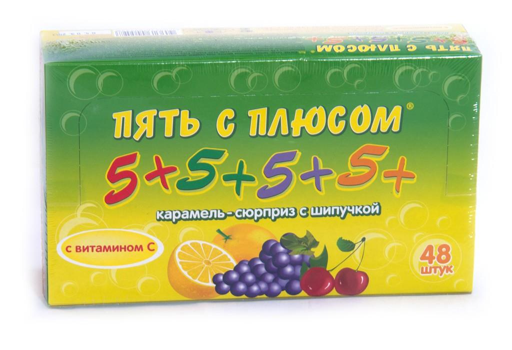 Карамель Фруктовая 5+,  48 шт