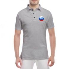 Серая мужская футболка поло Никита