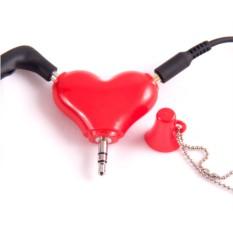 Разветвитель для наушников Сердце