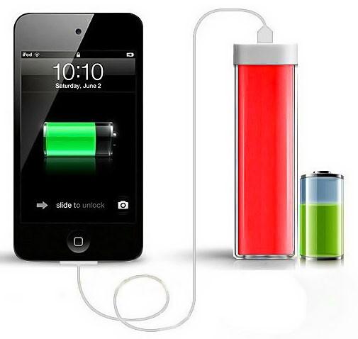 Портативное зарядное устройство Power Bank 2600 mAh, красный