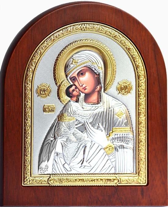 Феодоровская икона Божьей Матери в серебряном окладе