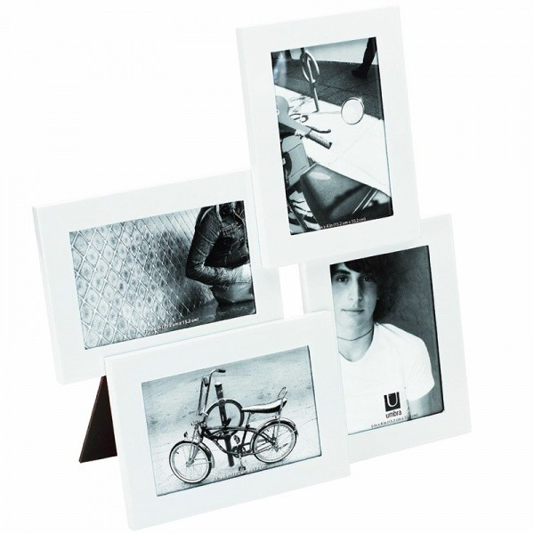 Рамка для фотографий Lira на 4 фото 10х15 см белая.