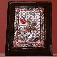 Декоративное панно Святой Георгий