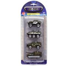Игровой набор из 4 машинок Военные