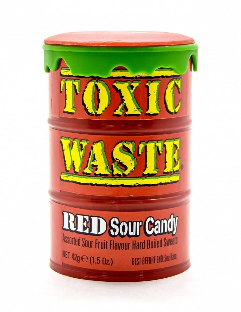Красные леденцы Toxic