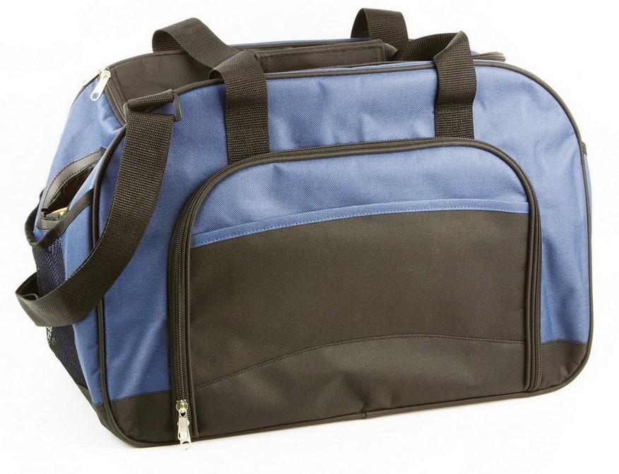 Мужская дорожная сумка с 2 отделениями и 2 сетчатыми карманами по бокам