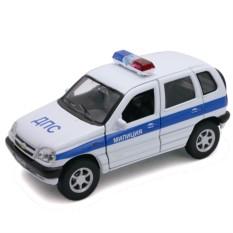 Модель машины Welly Chevrolet Niva МИЛИЦИЯ ДПС