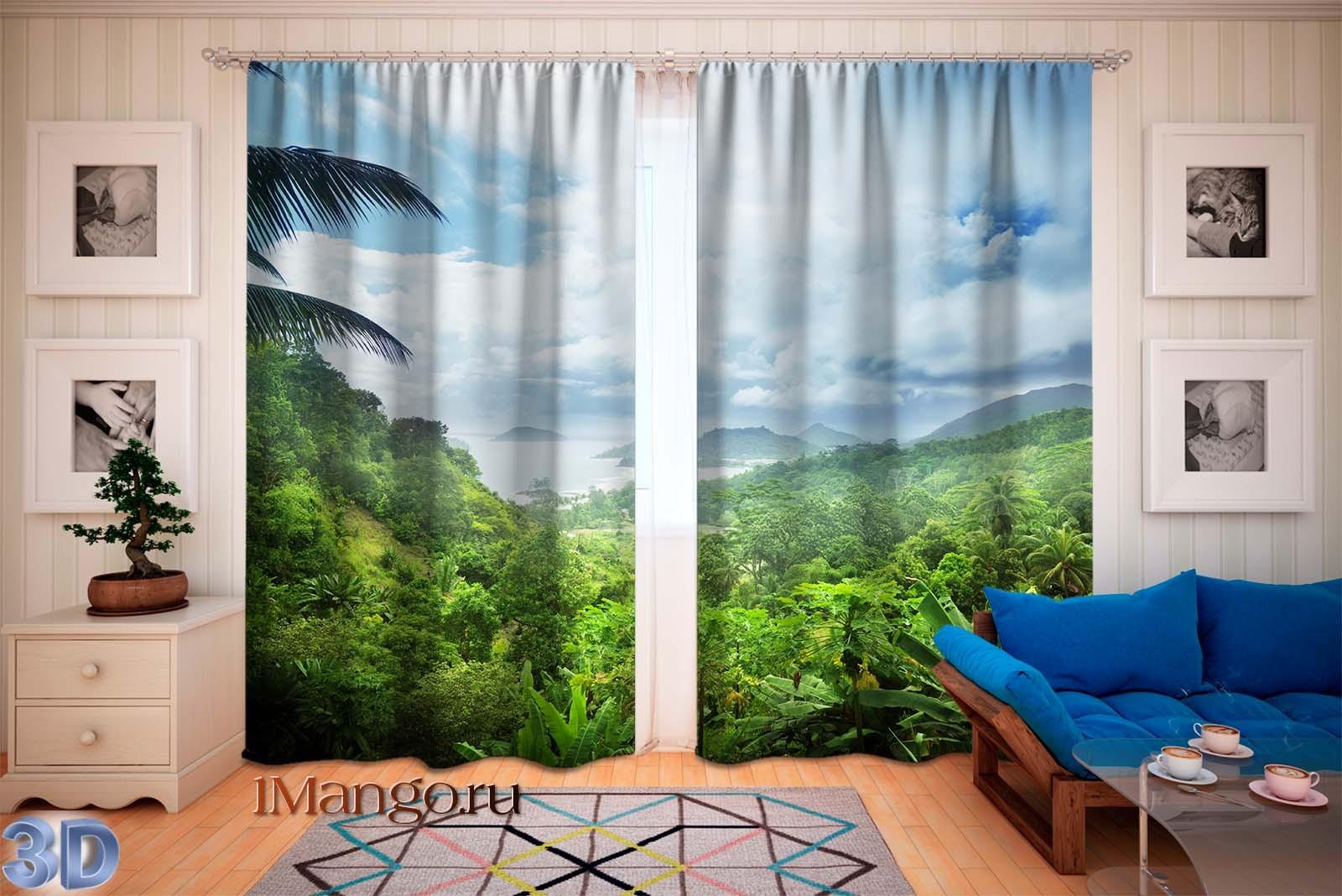 Фотошторы Сейшельские джунгли