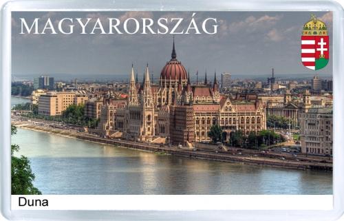 Магнит на холодильник: Венгрия. Река Дунай